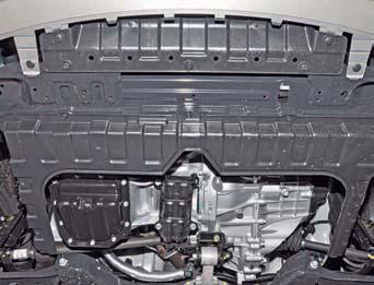 Снятие грязезащитных щитков моторного отсека Hyundai Solaris
