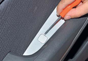Снятие обивки задней двери Hyundai Solaris