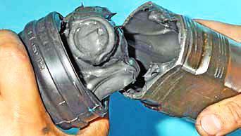 Снятие внутреннего шарнира, замена грязезащитного чехла Хендай Солярис