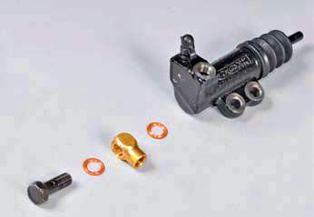 Снятие рабочего цилиндра гидропривода сцепления Хендай Солярис